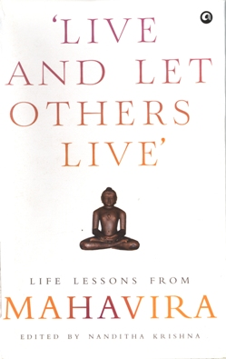 LIVE AND LET OTHERS LIVE mahavir book by nanditha krishnan